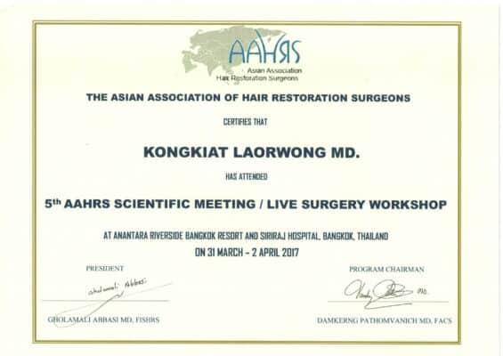 รางวัล ปลูกผม FUE hair transplant Thailand Absolute hair clinic